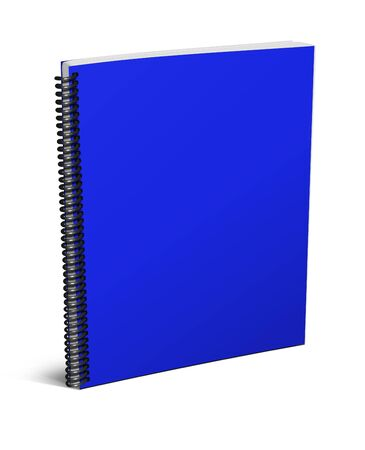 notebook cover: 3d blank notebook cover isolated on white background Stock Photo