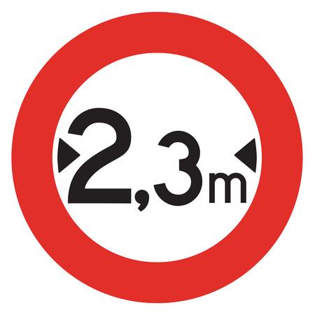 width: A Dutch prohibition sign - Width limit. Stock Photo