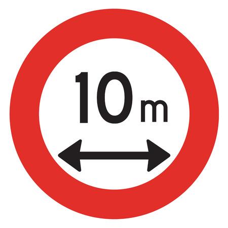 interdiction: Un panneau d'interdiction N�erlandais - Longueur limite.