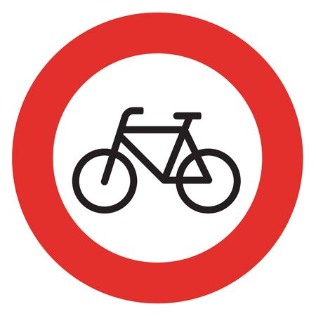 parking is prohibited: no bicycle sign sign on white background Stock Photo