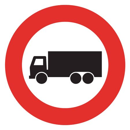 forewarning: No truck sign. Stock Photo