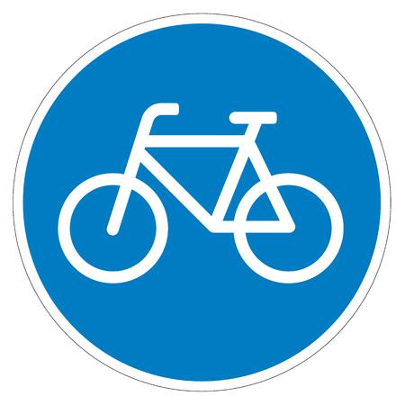 bicycle lane: Sign of a bike or bicycle lane