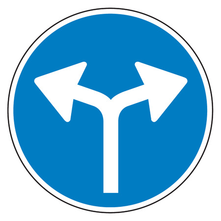 turn: Turn Left or Turn Right Regulatory Sign Stock Photo