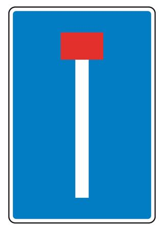 nowhere: traffic sign dead end