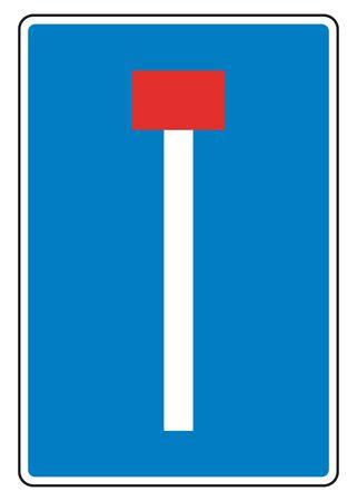 end: traffic sign dead end