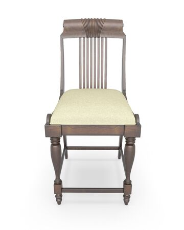 antique chair: 3d rendering antique chair on white background
