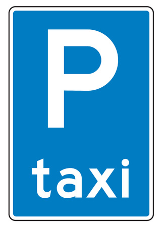 rank: Netherlands road sign E5 - Taxi rank.