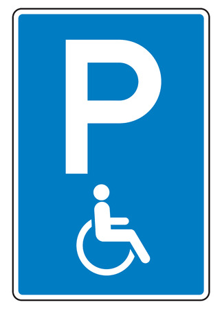 handicap sign: Handicap Sign lsolated on white background with clipping path
