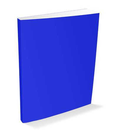 hardcover: 3d illustration blank square hardcover album template on white background