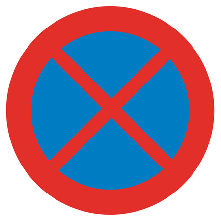 no rush: Clearway sign Stock Photo