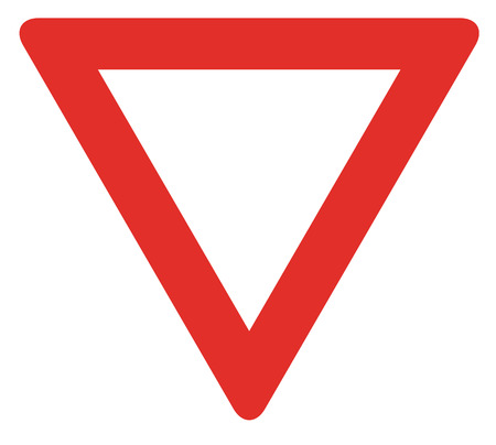illustration of blank red triangle traffic sign Stock Photo