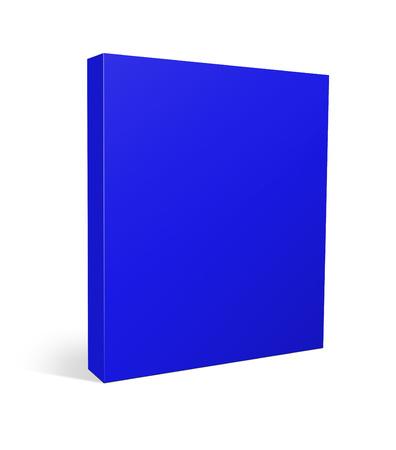 blank box: 3d illustration blank box on white background Stock Photo