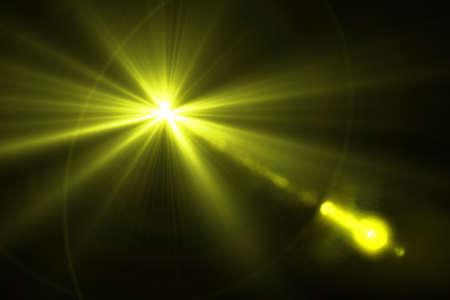 bacground: digital lens flare in black bacground horizontal frame Stock Photo