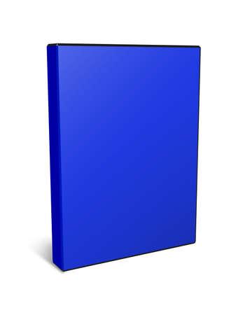 rewritable: 3d illustration DVD box isolated on white Stock Photo