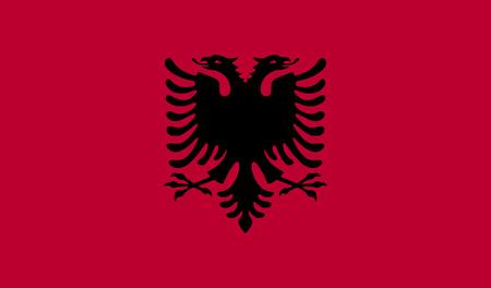 double headed: Flag of Albania. Albania symbol, Albania element, Albania sign, Albania picture, Albania illustration, app Albania, image Albania, flat Albania, Albania design, Albania graphic