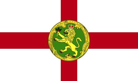 Flag of Alderney. Alderney symbol, Alderney element, Alderney sign, Alderney picture, Alderney illustration, app Alderney, image Alderney, flat Alderney, Alderney design, Alderney graphic