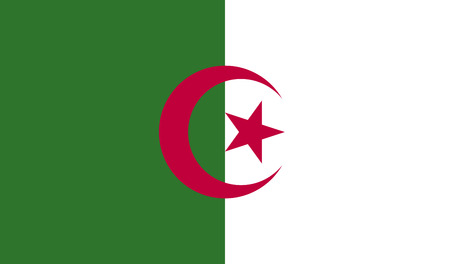 correctly: Algeria flag, official colors and proportion correctly. National Algeria flag. Algeria flag correct. Algeria flag drawing. Algeria flag JPG. Algeria flag JPEG. Stock Photo