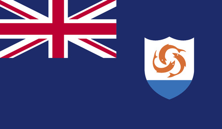anguilla: Raster illustration Anguilla flag raster icon. Rectangular national flag of Anguilla. Anguilla flag button Stock Photo
