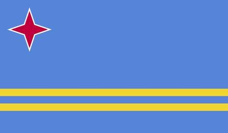 proportional: Flag of Aruba Stock Photo
