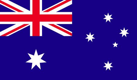sidney: Flag of Australia. Stock Photo