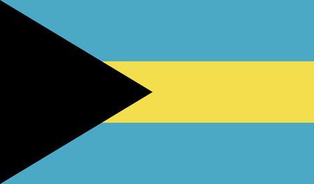 Bahamas flag isolated on background. Stock Photo