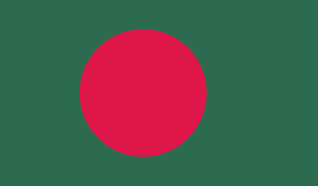 correctly: Bangladesh flag Stock Photo
