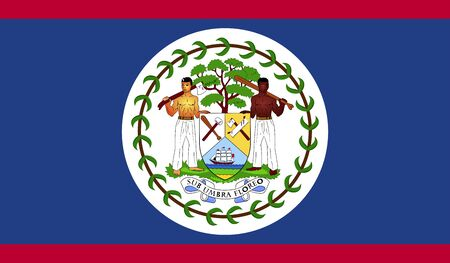 belize: Flag of Belize. Stock Photo