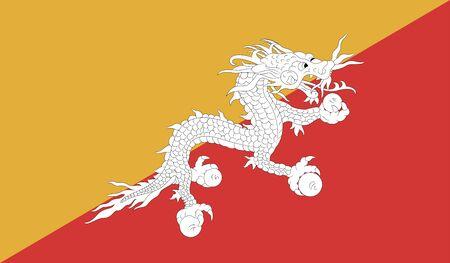 bhutan: flag of Bhutan