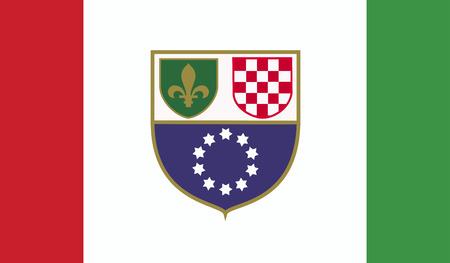 bosnia and herzegovina flag: Bosnia and Herzegovina federation of flag Stock Photo