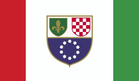 the federation: Bosnia and Herzegovina federation of flag Stock Photo