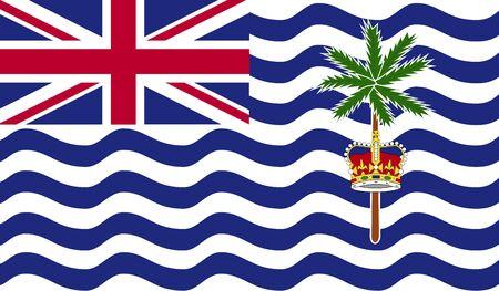 territory: British Indian Ocean Territory flag Stock Photo