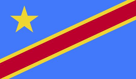 flagged: Democratic Republic of Congo Flag Stock Photo