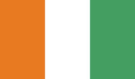 coast: ivory coast flag Stock Photo