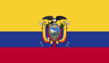 ecuador: Flag of Ecuador Stock Photo