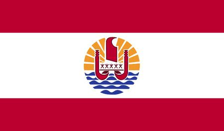 french flag: French Polynesia flag