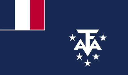 antarctic: Flag of French Southern Territories and Antarctic Lands.