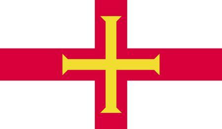 guernsey: Flag of Guernsey.