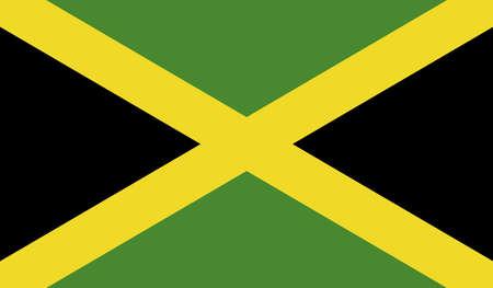 flagged: Flag of Jamaica. Stock Photo