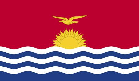 kiribati: Flag of Kiribati.