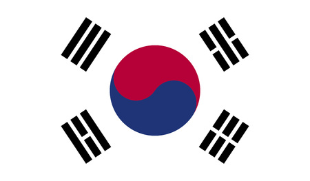 dictatorship: South Korea Flag Stock Photo
