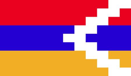 internationally: Nagorno-Karabakh flag Stock Photo