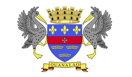 saint: Flag of Saint Barthelemy.