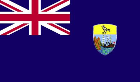 saint: Saint Helena Flag. Stock Photo