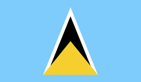saint: Flag of Saint Lucia Stock Photo
