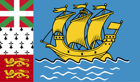 Flag of Saint Pierre and Miquelon Stock Photo