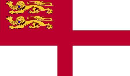 sark: Sark flag Stock Photo