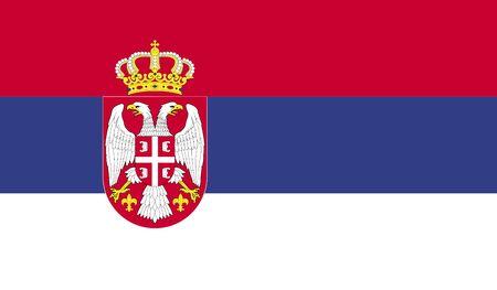 serbia: Flag of Serbia Stock Photo