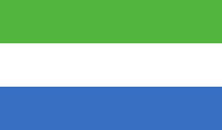leone: Flag of Sierra Leone Stock Photo