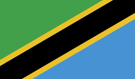 Tanzania Flag Stock Photo