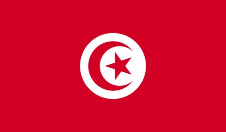 origins: Flag of Tunisia Stock Photo